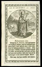 santino incisione 1600 S.ISIDORO ARC. DI SIVIGLIA