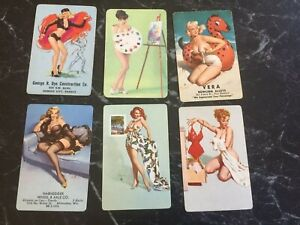 Pinup Girls ,Playing cards, Vintage Pinup Girls Swap cards 1950s 60s nude