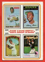 1974 Topps #6 Hank Aaron VG+ STAIN 1970 1971 1972 1973 Atlanta Braves FREE SHIP