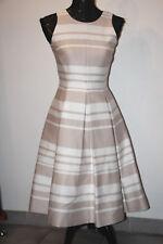 KATE SPADE fit & flare cape stripe dress  beige / white sz 0  $448  NJMU6120