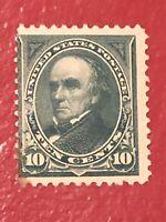 US SCOTT Cat # 273 Unused H NG 10c WEBSTER Stamp CV $95 FREE S&H Corner Stain