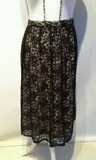 Ladies Pretty Lined Black Lace Skirt - Size 14 - VGC
