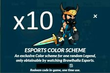 Brawlhalla 10 Esports Colors V1 Codes, 500+ Reviews, DELIVERY IN MINUTES!!!