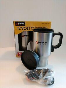 Wagan Tech Heated Travel Mugs (Set of 2). 12v 16oz. Tested. Unused. Vacation.