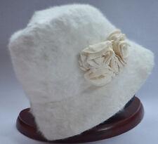 KANGOL FURGORA WHITE TRILBY HAT CORSAGE CAP  6265BC MEDIUM 57cm 22.5in NEW NWT