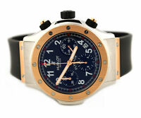 HUBLOT SUPER B FLYBACK CHRONOGRAPH 1926.7 18K ROSE GOLD STEEL WATCH