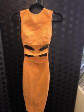 House Of CB Orange Robe portée une fois RRP £ 129 Taille XS