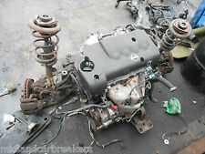 NISSAN PRIMERA P12 WP12 1.8 16V COMPLETE ENGINE & 5 SPEED MANUAL GEARBOX QG18