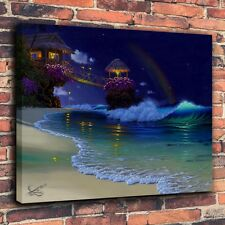 HD Art Print Repro Oil Painting on Canvas Home Decor Wall- Al Hogue Rainbow Moon