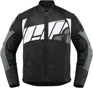 Icon Motosports AUTOMAG 2 Textile Riding Jacket (Grey) Choose Size