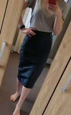Genuine Sheep Leather Classic Long Skirt Size 40 UK 12