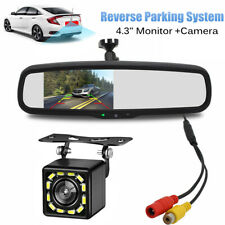 """Car 4.3"""" Rear View Mirror Mount Monitor + Backup Camera Reverse Parking System"""