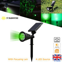 4LED Green Solar Power Spot Lights Garden Patio Outdoor Party Wedding Decor Lamp