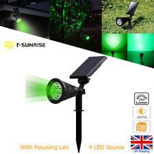 4LED Green Solar Power Spot Lights Garden Patio Outdoor Party Wedding Decor Lamp