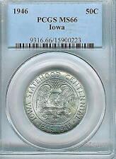 1946 Iowa Commemorative Half Dollar : PCGS MS66