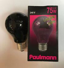 ORIGINALE Paulmann AGL Ampoule Lumière Noire 240V 75W E27 AMPOULE