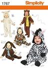 Simplicity Sewing Pattern 1767 Babies' One-piece Hooded Animal Costumes