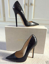 """Jimmy Choo 100% Leather Stiletto Very High (greater than 4.5\) Women's Heels"""""""