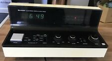 Rare Sharp FX-52C Digital Clock Radio, Tested - Works