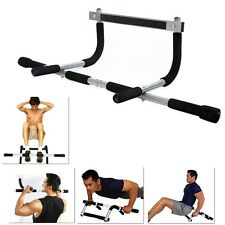 Exercise Fitness HOME DOOR PULL UP BAR Chin-Up Sit-Up Strength Body Workout Gym!