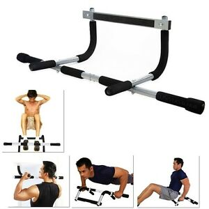 Doorway Pull Up Bar Chin Up Sit-Up Strength Body Workout Exercise Fitness Gym!