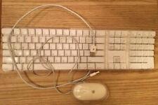 GENUINE Apple Mac White USB Wired Keyboard Mouse iMAC G3 G4 G5 eMAC A1048 M5769