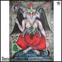 modern contemporary art painting canvas figurative baphomet satan devil lucifer
