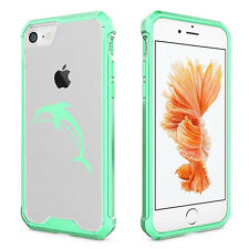For Apple iPhone 6 6s 7 Plus Clear Shockproof Bumper Case Cover Dolphin