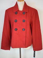 Briggs New York Sz 16 Blazer Red Tweed Acrylic Wool Button Lined Jacket