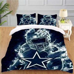 Dallas Cowboys 3 Piece Duvet Cover Pillowcases All Sizes Bedding Comforter Cover