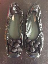 Marc Jacobs Ballet Shoes Elastic Patent Satin Bauble Bobble Beads Size 7 40 10
