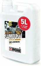 Huile Moto IPONE SAMOURAI Bidon 5L Lubrifiant 100% Synthétique Moteur 2 Temps