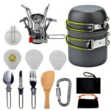 Portable Outdoor Cooking Tableware Camping Picnic Hiking Dinner Utensil Stove