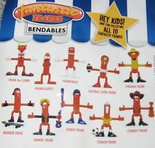 Fantastic Franks Bendable Bendy Hot Dog PVC Figure Figurine 10 Toy Set KID STUFF