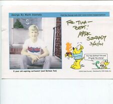 Mark Szorady Cartoonist Artist George Signed Autograph Photo