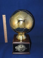 HUGE GOLD SOCCER BALL TROPHY-  FREE ENGRAVING!!