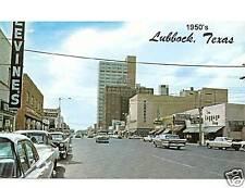 1950's  Lubbock, TX   Post Card Magnet St. Scene