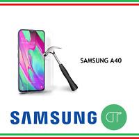 PELLICOLA IN VETRO TEMPERATO PER SAMSUNG A40 PROTEGGI SCHERMO LCD ANTIURTO