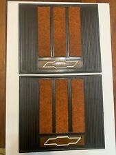 """Vintage Chevrolet Rubber Floor Mats With Carpet 13 3/4"""" By 15 3/4"""" New Old Stock"""