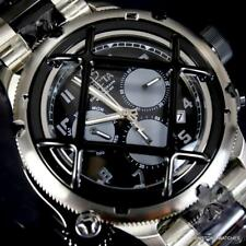 Invicta Russian Diver Nautilus Cage Stainless Steel Black Chronograph Watch New