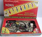Vintage Noma 7 Socket C7 Cloth Cord Red Beads Light String In Mazda Box 1939