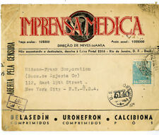 Brazil 1944 Medical Advertising Cover US & Brazilian Censors, VF