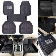 5Pcs/set universal grey car floor mats auto floor liner leather carpet mat~SR