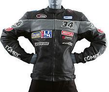 Roleff Racewear kurze Motorrad Lederjacke Spa- Herren Motorradlederjacke - Gr. M
