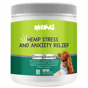 Hemp Calming Treats for Dogs Stress and Anxiety Medicine Aid for dogs 60 Chews