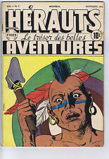 Herauts Aventures V4 #2 Fides Pub, 1946, French Canadian Edition