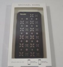 NEW Michael Kors iPhone 6 6s Phone Snap-On Case Black /Silver Patterned