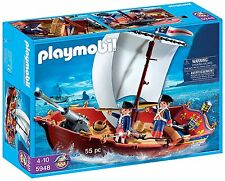 Marca Nueva Playmobil 5948-Barco Pirata (55pc)