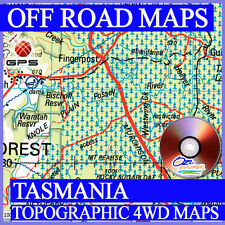 Tasmania Topographic 4WD maps for OziExplorer - Off Road GPS topo maps