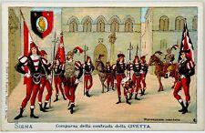 Cartolina Formato Piccolo - Siena - Comparsa Della Contrada Della Civetta Non Vi
